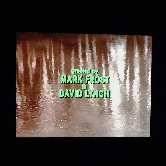 Watching #twinpeaks for the first time since I was a teanager - still great but can't get over how horrible the #titles are - #typography