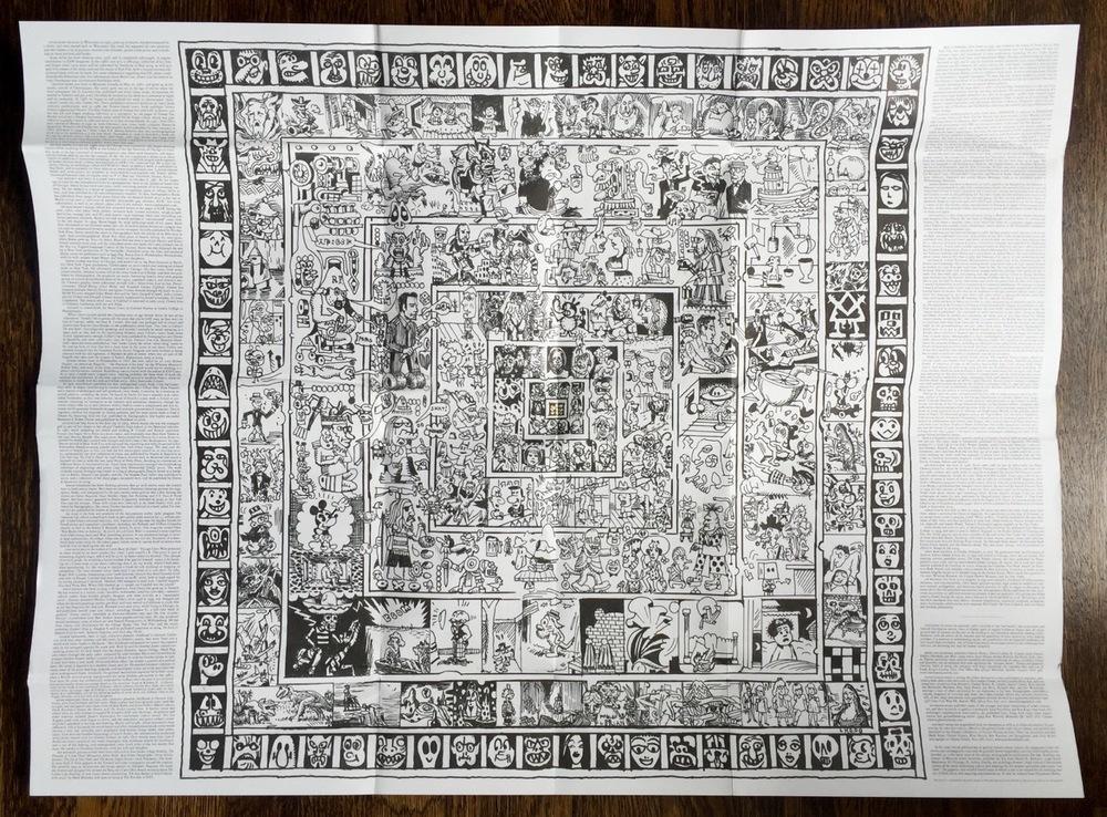 Inside of comics foldout wrapper