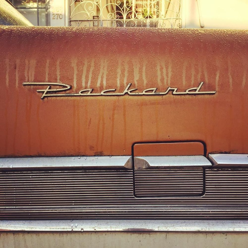 #packard #junkcars #typography #classiccar