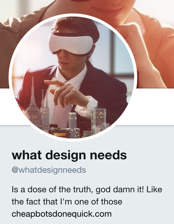 @whatdesignneeds - https://twitter.com/whatdesignneeds