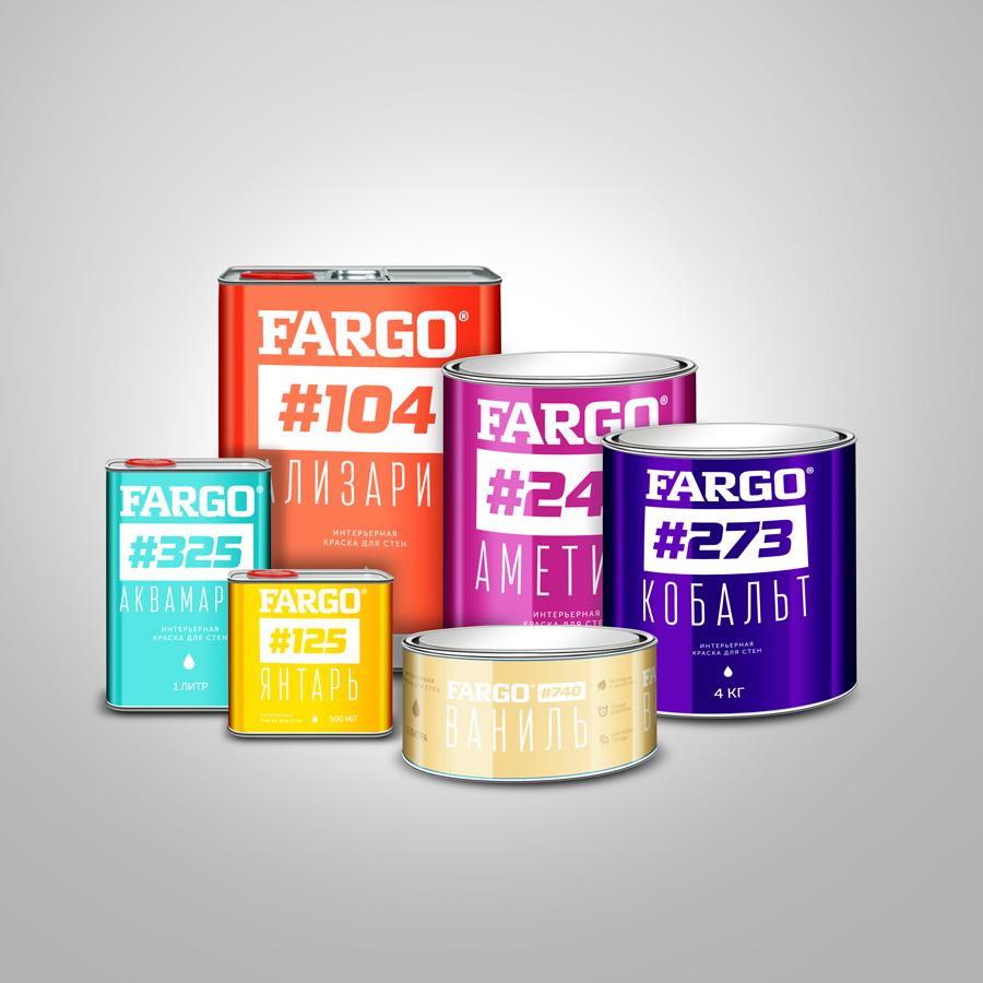 Дизайн упаковки и этикетки красок Fargo®