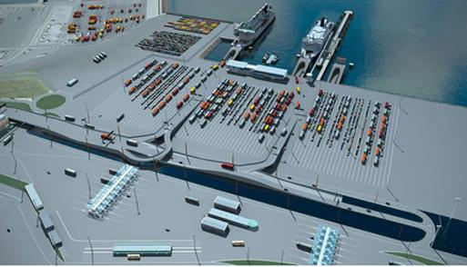 Dans un contexte économique , c'est aussi le cas pour Boulogne-sur-Mer. Ces deux ports français situés au cœur d'une des zones les plus actives au monde avaient besoin d'une augmentation de leur capacité d'accueil tant au niveau des marchandises (1er port français) que celle des voyageurs (deuxième port européen). Pour cela, la Société d'Exploitation des Ports du Détroit et la région Nord Pas de Calais (appelée désormais, la nouvelle région «Hauts de France » ) ont signé un contrat de concession d'une durée de 50 ans afin de faire de ces deux ports, une entité unique. Ce projet « Calais Port 2015 » d'un montant de 650 millions € a été confié à un groupement emmené par Bouygues Construction et comprend les entreprises Spie Batignolles, Colas Nord Picardie et Jan De Nul. Les travaux consistent à réaliser une digue de 3 kms de longueur hébergeant un nouveau bassin portuaire de 110 hectares situé au nord des installations actuelles. Pour ce faire, les nouveaux terre-pleins seront constitués de 4 millions de m3 de dragages maritimes. L'aménagement des nouvelles capacités d'accueil du trafic transmanche sera occupé par 44 ha de plates-formes et de voiries ainsi, qu'une vingtaine de bâtiments d'exploitation et d'accueil. Enfin, à l'intérieur du bassin, seront érigés trois nouveaux postes ferries et un poste roulier. L'environnement sera préservé avec l'implantation d'une aire de quiétude pour les oiseaux ainsi que des habitats artificiels et de nourriceries pour la faune marine qui seront soigneusement disposés le long de la digue et le long du port. Originalité de ce chantier : une pompe à chaleur fonctionnant à l'eau de mer assurera une production de froid et de chaud, les bâtiments disposant également d'une source d'énergie éolienne.     Jan De Nul : un leader en travaux marins