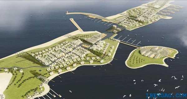 À l'Est du Maroc sur la façade méditerranéenne, vient de commencer le chantier de construction des infrastructures du port Nador West Med pour un montant estimé de l'ordre de 950 millions d'euros. Il s'agit d'un cofinancement constitué par la BERD (Banque européenne de Reconstruction et de Développement), la BAD (Banque africaine de Développement) et le Fades (Fonds Arabe pour le Développement économique et social). Les travaux pour la première phase ont été confiés à un groupement emmené par le Turc STFA, le Marocain STGM et une entreprise luxembourgeoise devant l'offre chinoise de CHEC. Le projet s'articule autour d'un grand port en eau profonde et d'un pôle commercial, industriel et logistique qui sera réalisé sur une zone franche de 1 500 hectares et une zone extra portuaire de 2 500 hectares. D'une longueur totale de 5 400 ml, deux digues seront construites ainsi que deux terminaux Est et Ouest avec les terre-pleins et leur cavalier de protection. À la digue principale, trois postes pétroliers seront édifiés ainsi qu'une rampe RoRo et un quai de service de 385 ml. Outre les dragages et terrassements importants seront réalisés, des confortements par consolidations de sols. Ces travaux maritimes font partie de la stratégie portuaire marocaine 2030 déjà symbolisée par le Projet Tanger Med, la réalisation des ports de Safi, Jorf Lasfar, Dakhla, les aménagements de celui de Casablanca en attendant l'ambitieux projet du port en eau profonde Kenitra Atlantique dont l'activité sera liée à la mise en service de l'usine Peugeot Citroën de Kenitra en 2020. La durée de construction est de 5 ans pour une mise en exploitation progressive à partir de 2021.     © Alain Faure © Bull BTP. Photo : © IBERGAG.COM