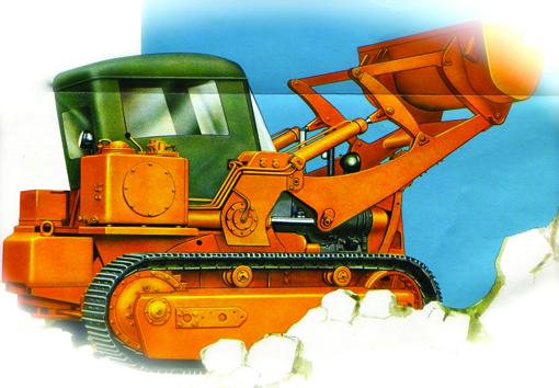 En 1961, le constructeur allemand de moteurs Deutz proposait une gamme de chargeurs et bulldozers sur chenilles de 75 et 115HP .      Liebherr LR611