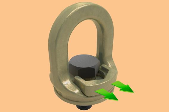 """Crosby Europe présente son nouveau crochet Crosby SL-150 Slide-Loc qui présente des fonctions dont les anneaux de levage classiques sont dépourvus. La nouvelle conception repose sur un mécanisme de verrouillage qui permet de rapidement bloquer l'anneau par un système de vis. L'opération inverse pour le levage est par ailleurs tout aussi rapide à réaliser, et ne nécessite aucun outil. Comparé aux autres anneaux de format identique, le Crosby SL-150 Slide-Loc© présente les avantages suivants: Un œil à ouverture large pour un accès aisé, un oeil rotatif à 360° pour assurer l'alignement de la charge et de la sangle ou du câble ainsi qu' un marquage """"Quick-Check"""" indiquant quand le Crosby SL-150 Slide-Loc est prêt pour le levage.      Fast Grind"""