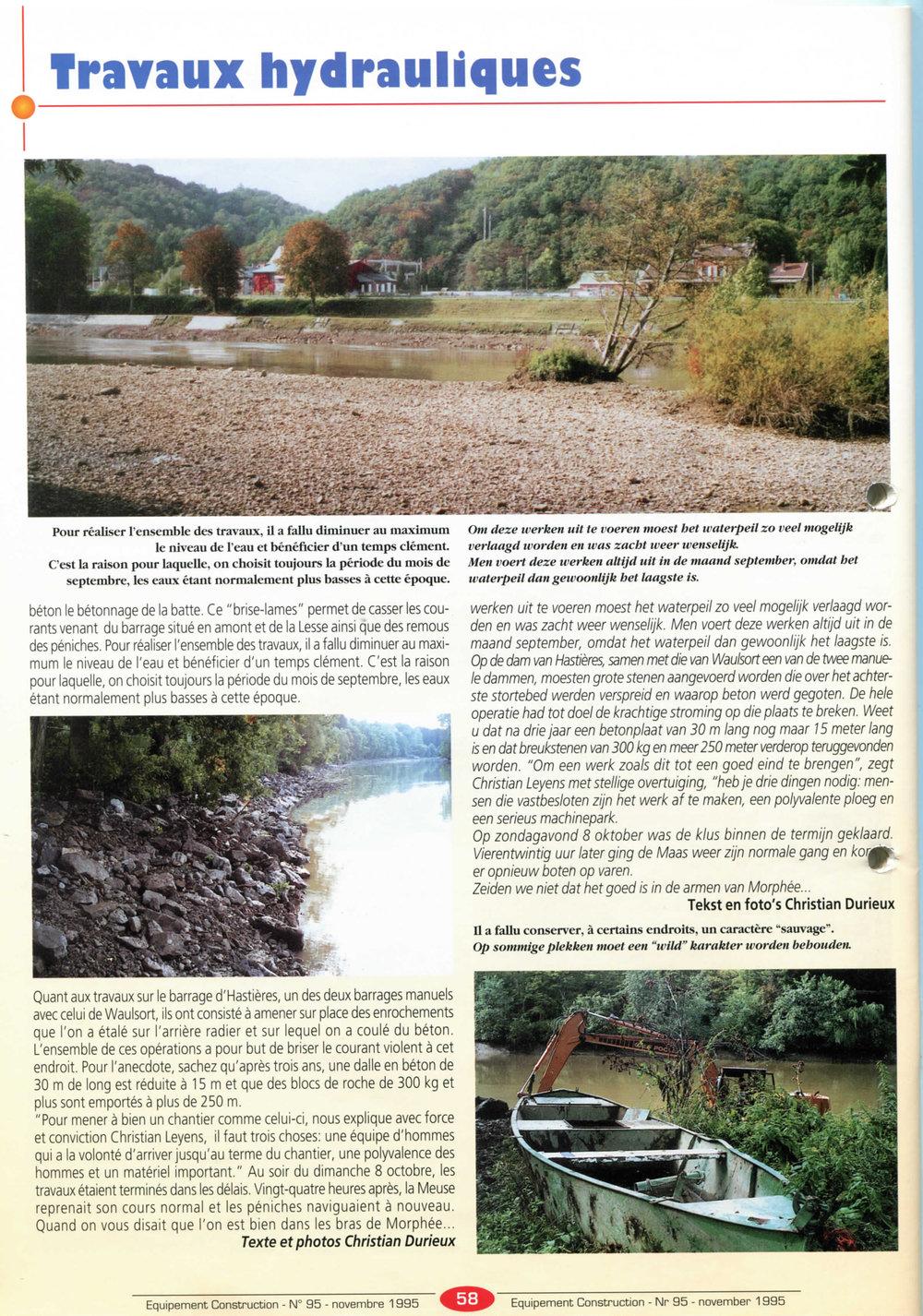 La Meuse ce 28 septembre à Dinant et à Yvoir