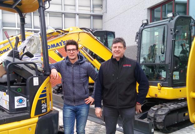 De gauche à droite : Steve et Alain Loiselet