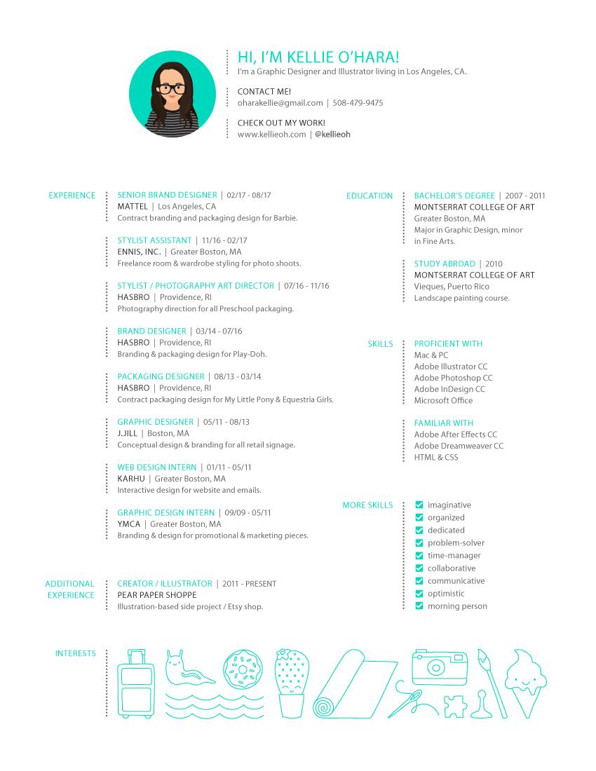 resume kellieoh design