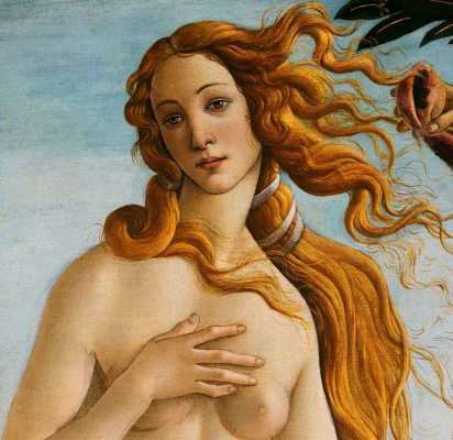 The Birth of Venus, detail,by Sandro Botticelli