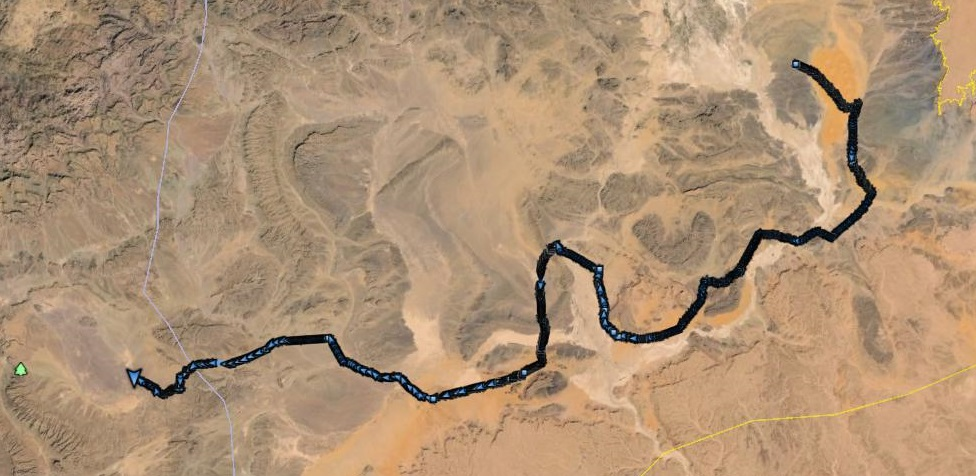 Marathon des Sables 2014 track log