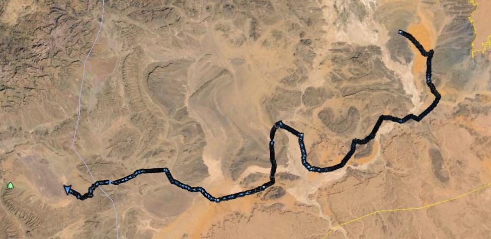 Track log of Marathon des Sables 2014
