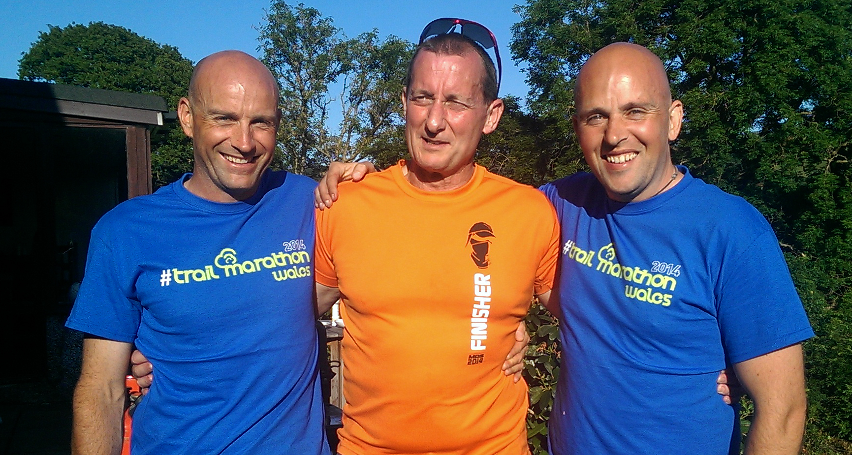 Phil, Andrew and I, from Tent 96 in Marathon des Sables, all together for TMW 2014