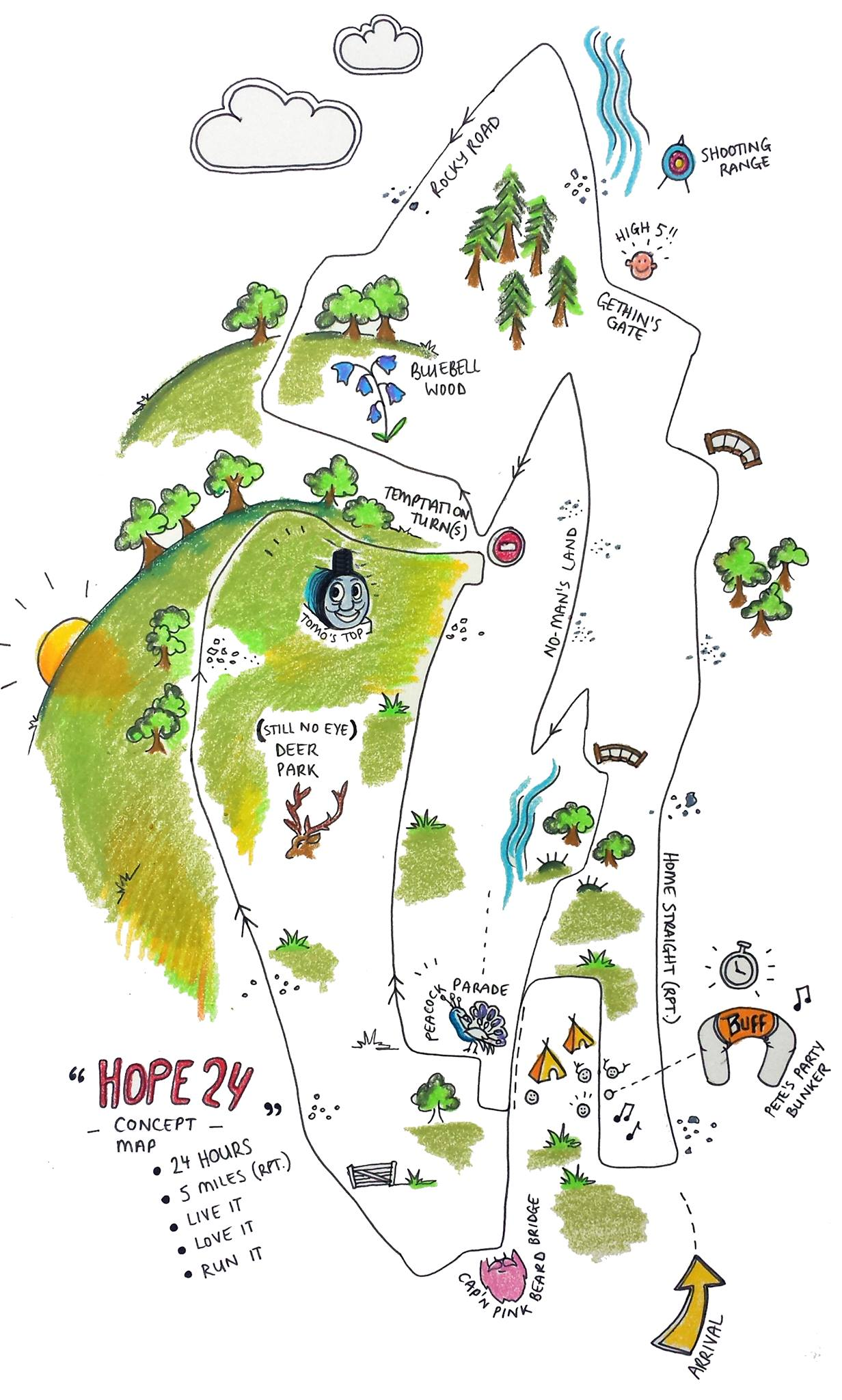 Excellent sketch map of Hope 24 from Matt Bisco