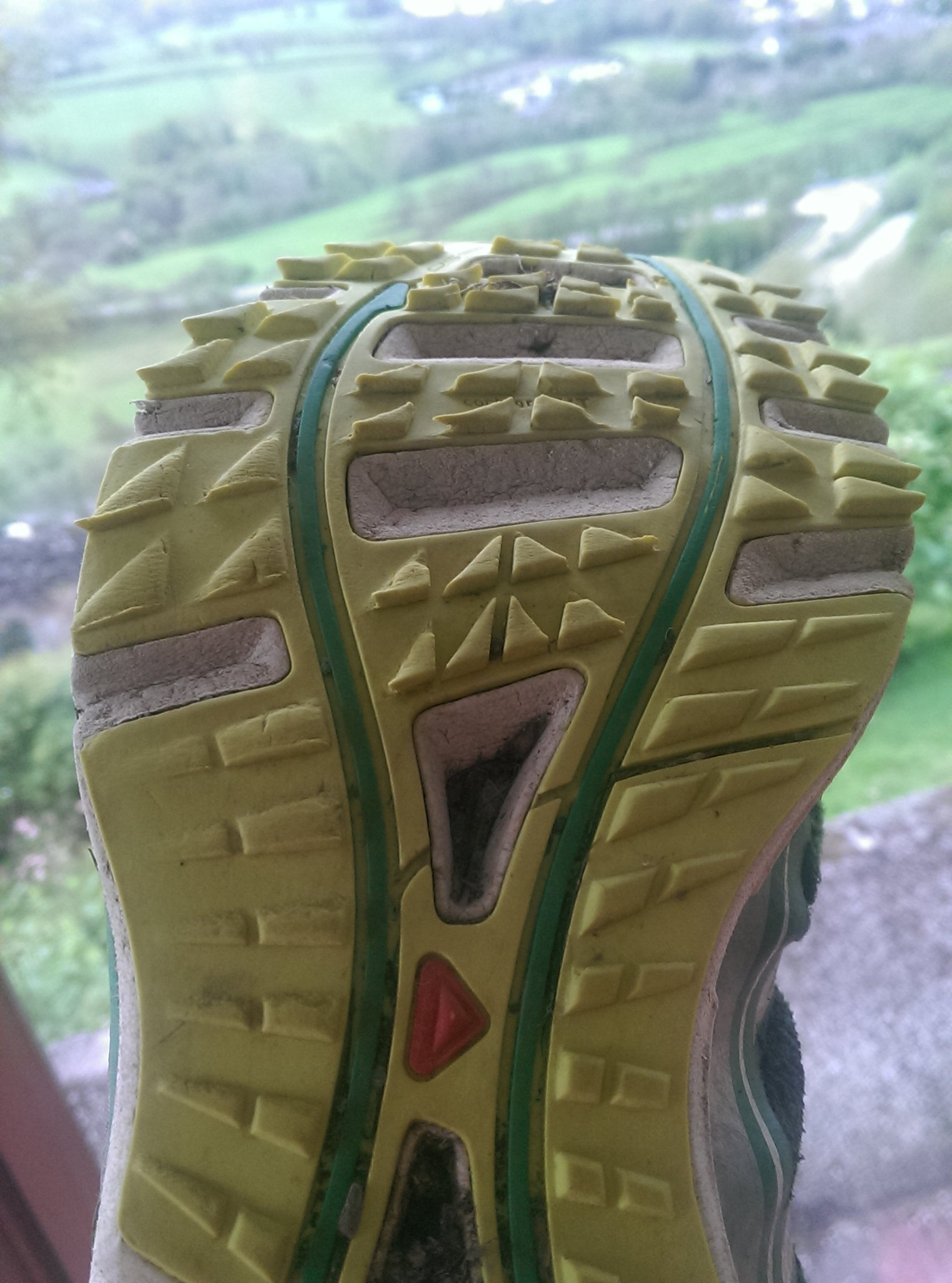 Salomon Sense Pro sole unit after 600km of abuse.