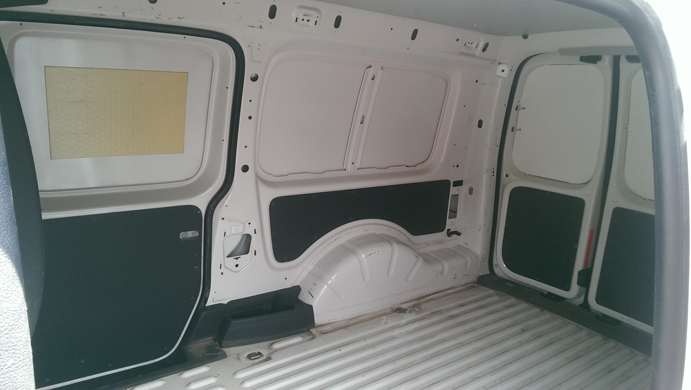 Inside of a normal pane van