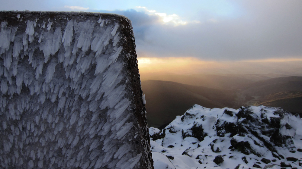 Trigpoint on the summit of Cader Idris