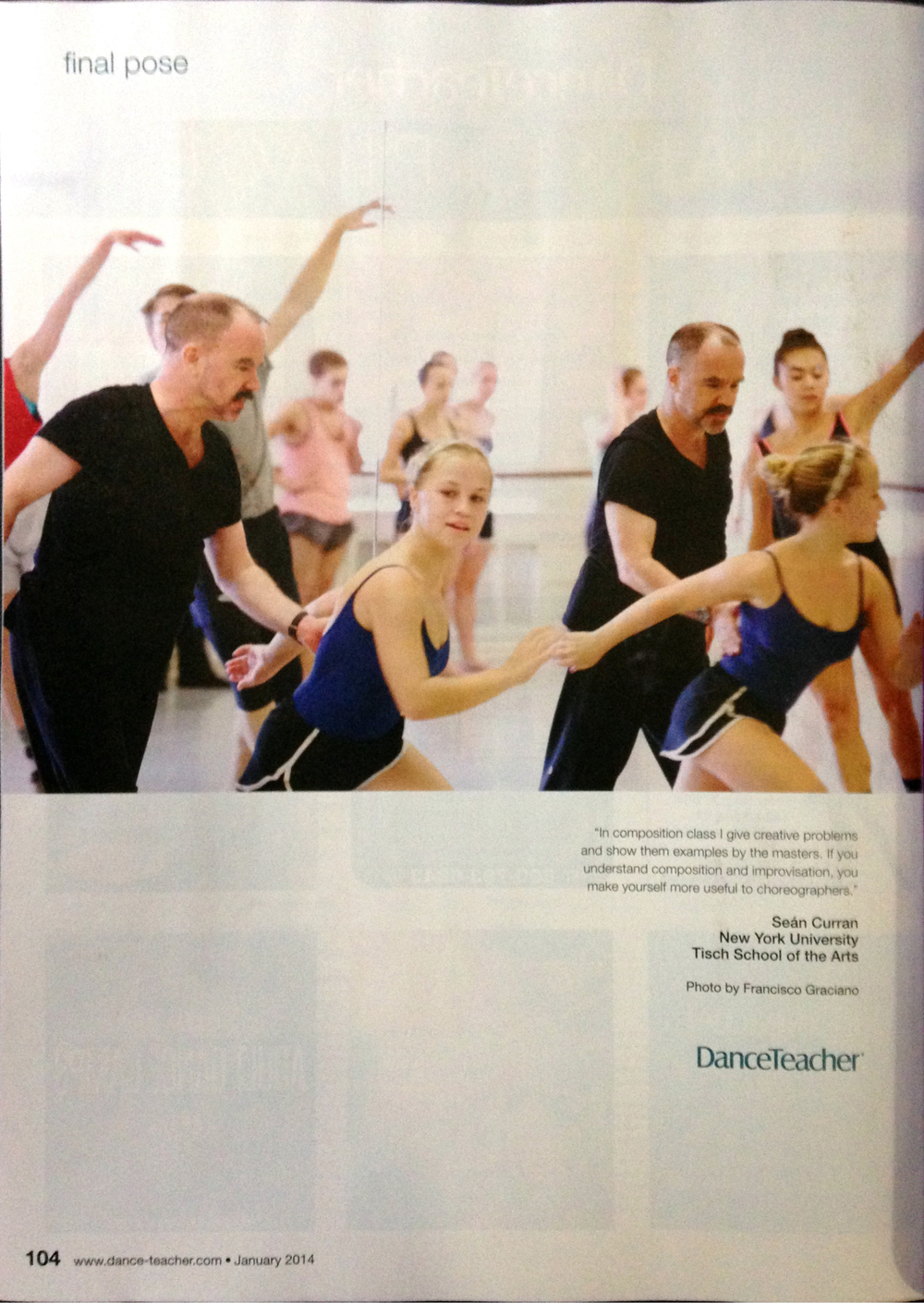 Dance Teacher Magazine, January 2014