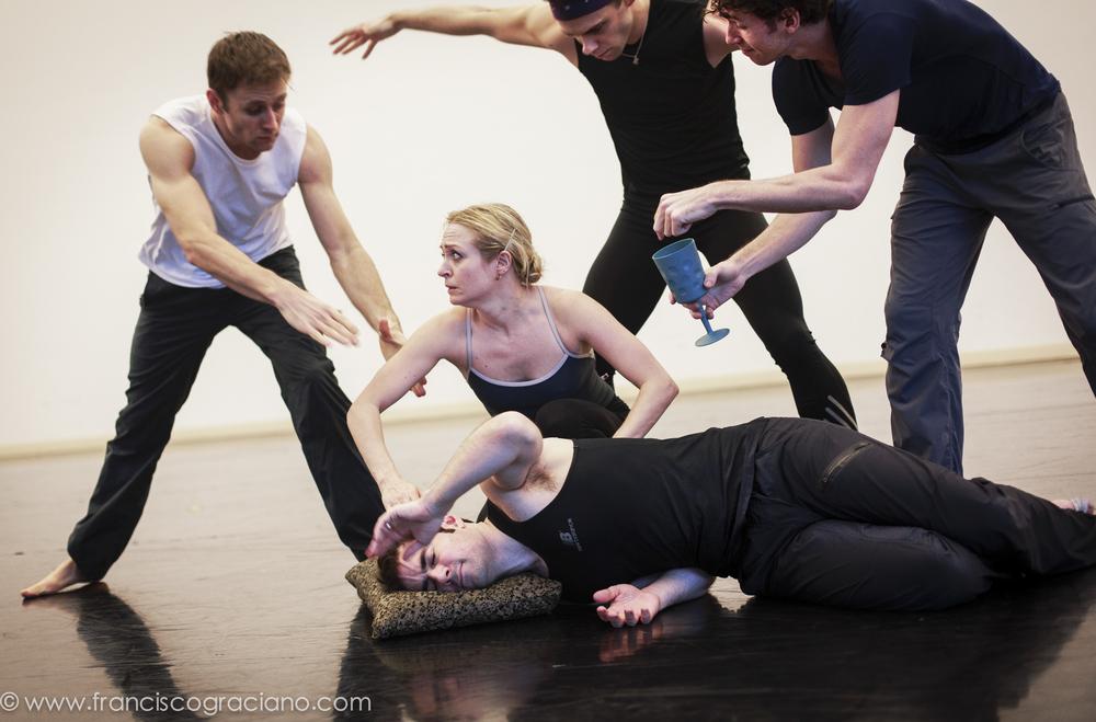Jamie Rae Walker with cast men