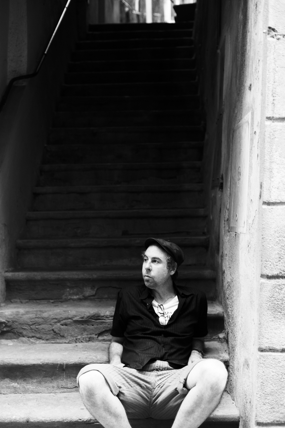 Chris on Montalcino Steps