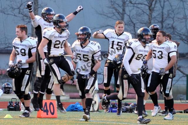 Søllerød Gold Diggers - EFL Quarterfinal bound © touchdown.fi
