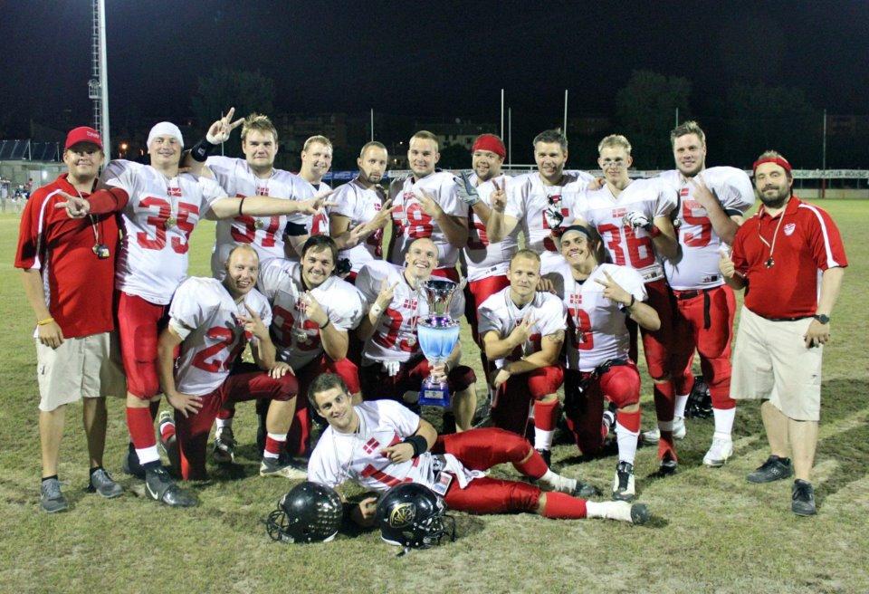 Gold Diggers spillere & coaches til 4 Helmets Tuneringen i 2012