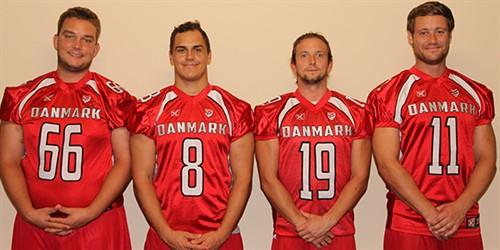 På billedet ses de fire kaptajner. Fra venstre er det: Peter Møller, Mikkel Vangsgaard, Niclas Klixböll ogKasper Øelund.© daff.dk