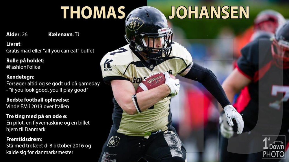 TJ havde sidst en stor rolle mod Aarhus Tigers, da han scorede flere touchdowns!