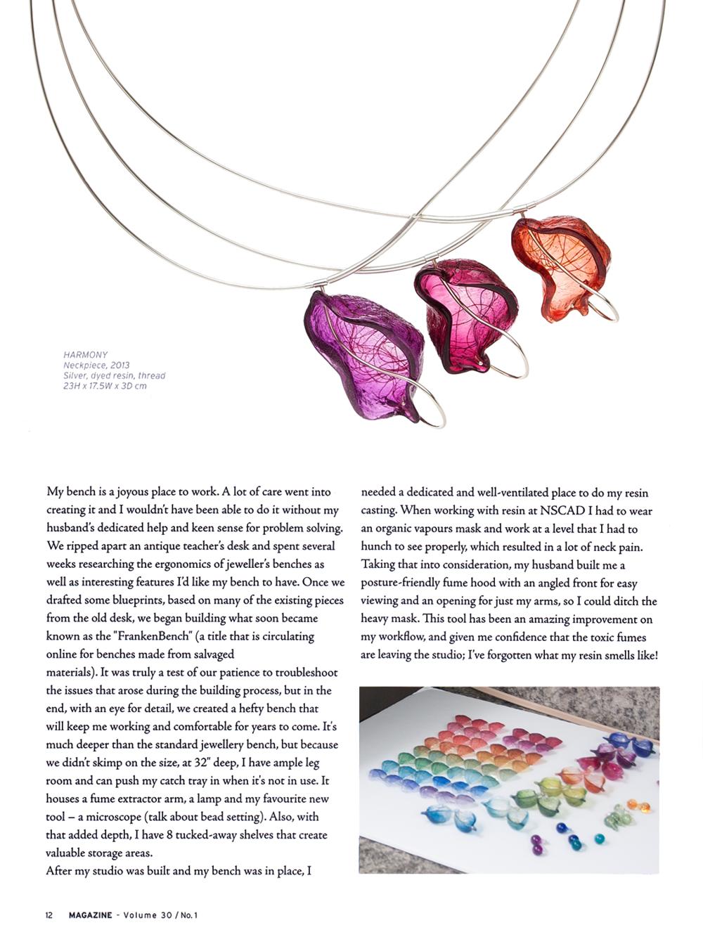 "Mary Lynn Podiluk. Interview by Tara Owen. ""In the Studio"". MAGazine: Volume 30, No. 1. 2015. 12. Print."