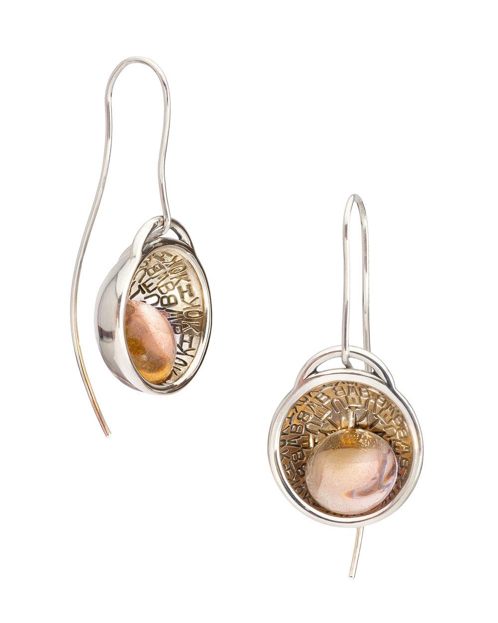 Amplify - Earrings | 2018Sterling silver, dyed resin4.8H x 2W x 2D cm