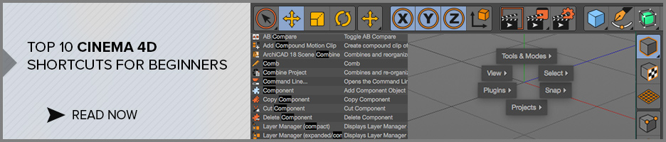 Top 10 Cinema 4d Shortcuts for beginners