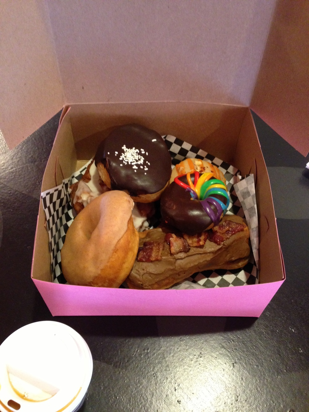 A selection of Glam Doll doughnuts.  photo credit: Ben Schicker