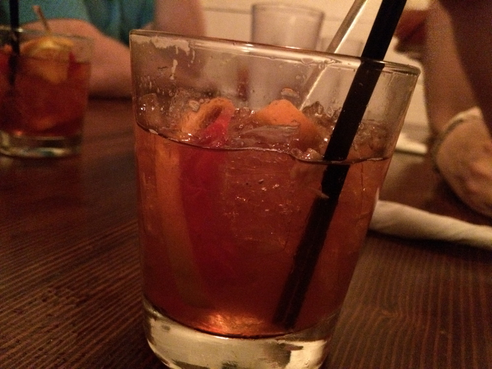 The Gates and Brovi old fashioned. Cheers, y'all.