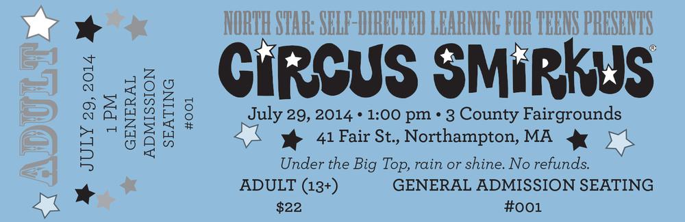 Circus Smirkus ticket