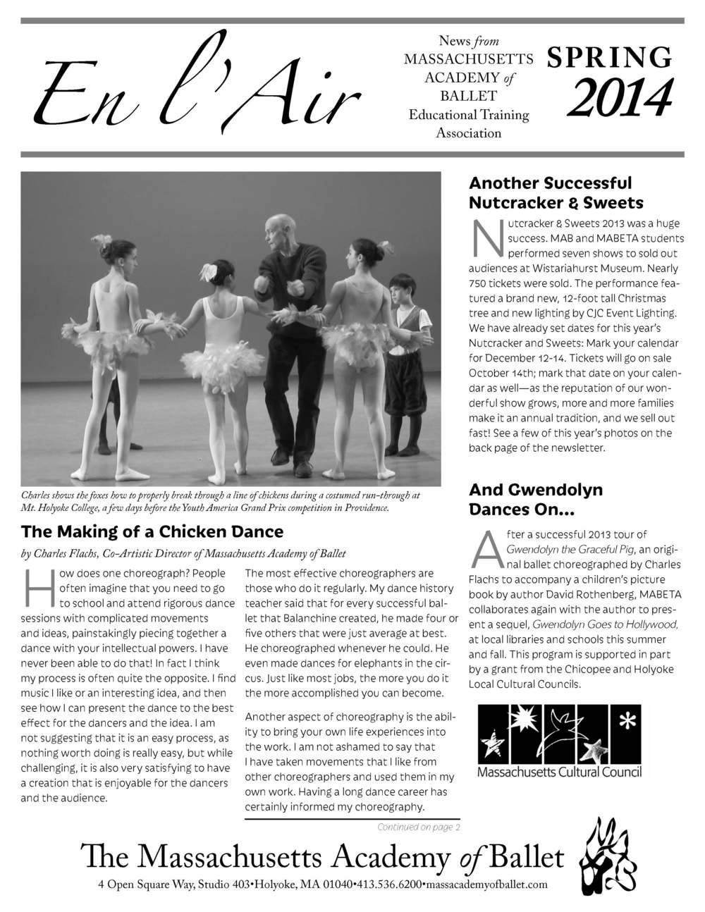 Massachusetts Academy of Ballet Spring 2014