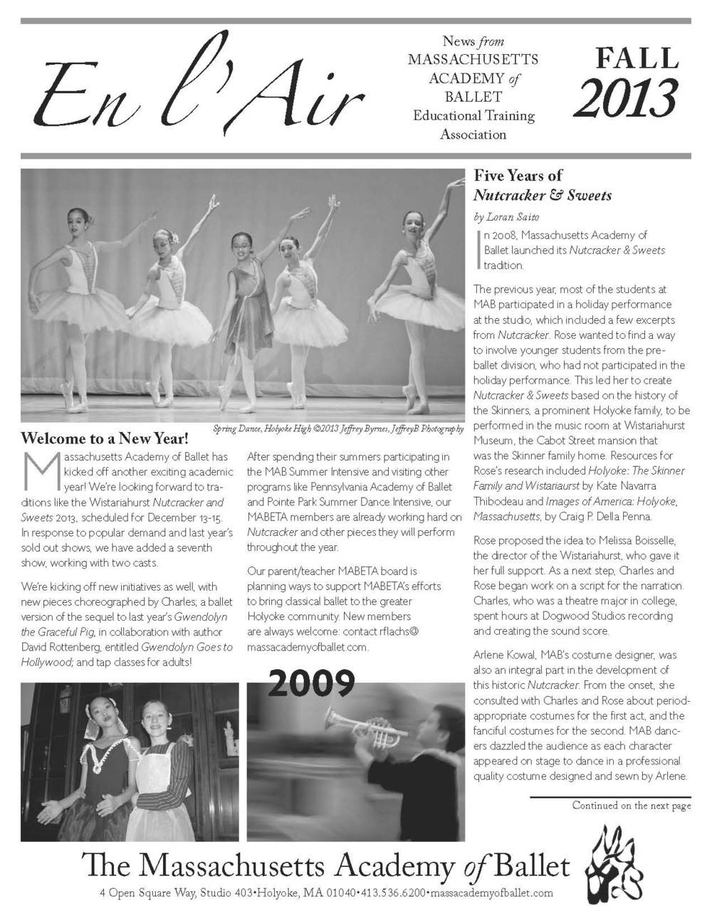 Massachusetts Academy of Ballet Fall 2013