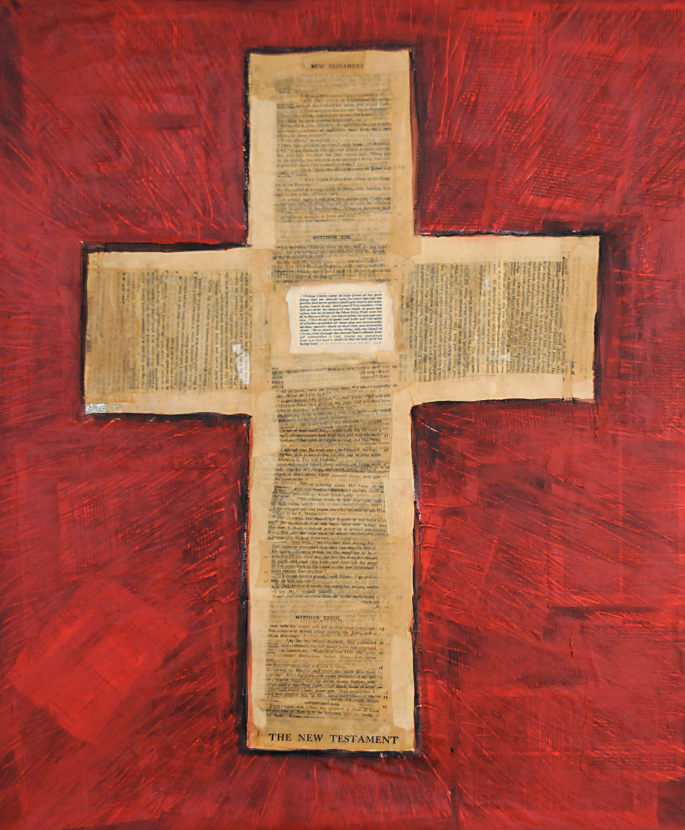 Cross  -  Mixed Media on Canvas  ( 20X24 )