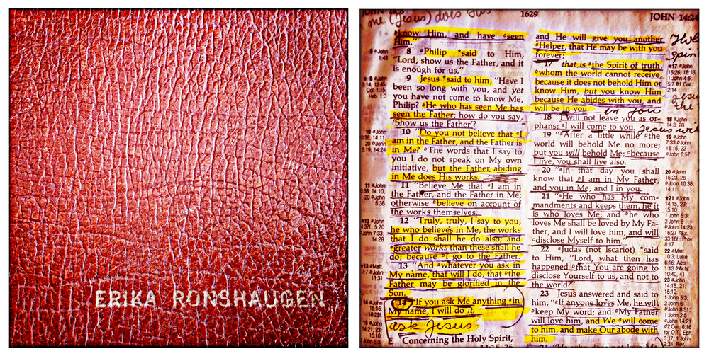 Photo of my mom's bible. (E Ronshaugen)