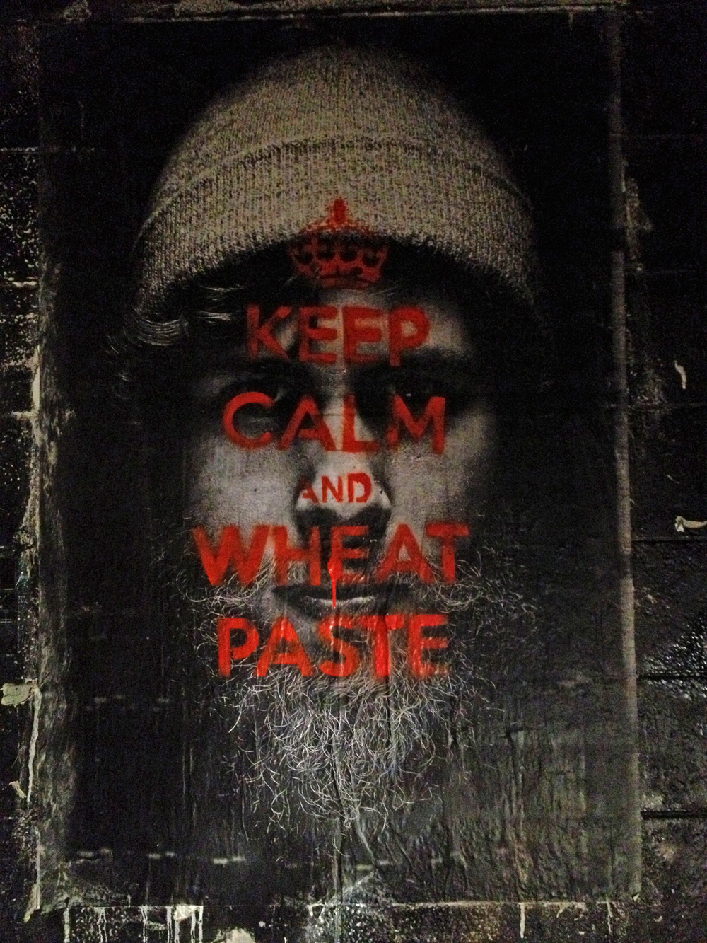 Photo of Wheat Paste in Denver (E Ronshaugen)