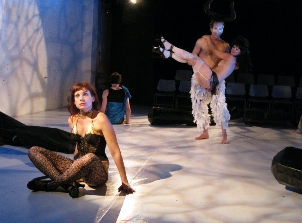 Audra Wolfmann (Chorus), Chad Benjamin Potter (Xanax), Trixxie Carr (Tiny Dionysus).  