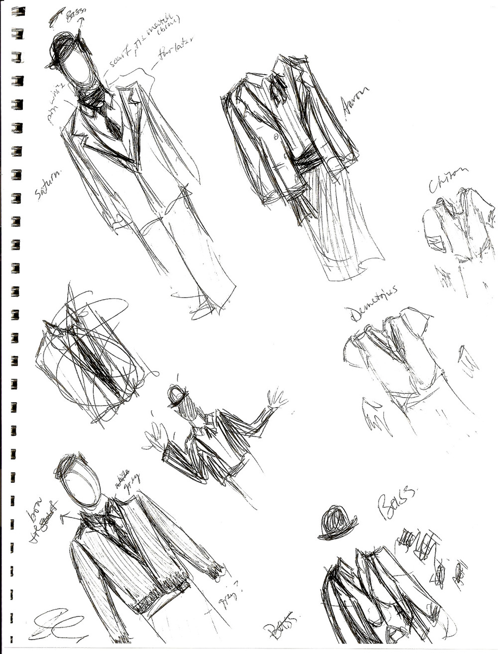 Costume Design Studies, Andronicus, 2006