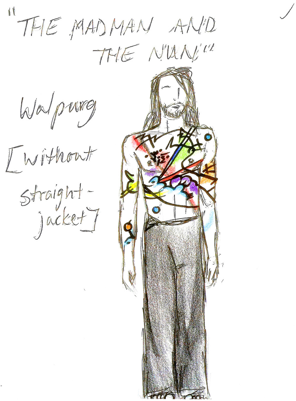 Costume Design Study, The Mad Man and The Nun, 2004.