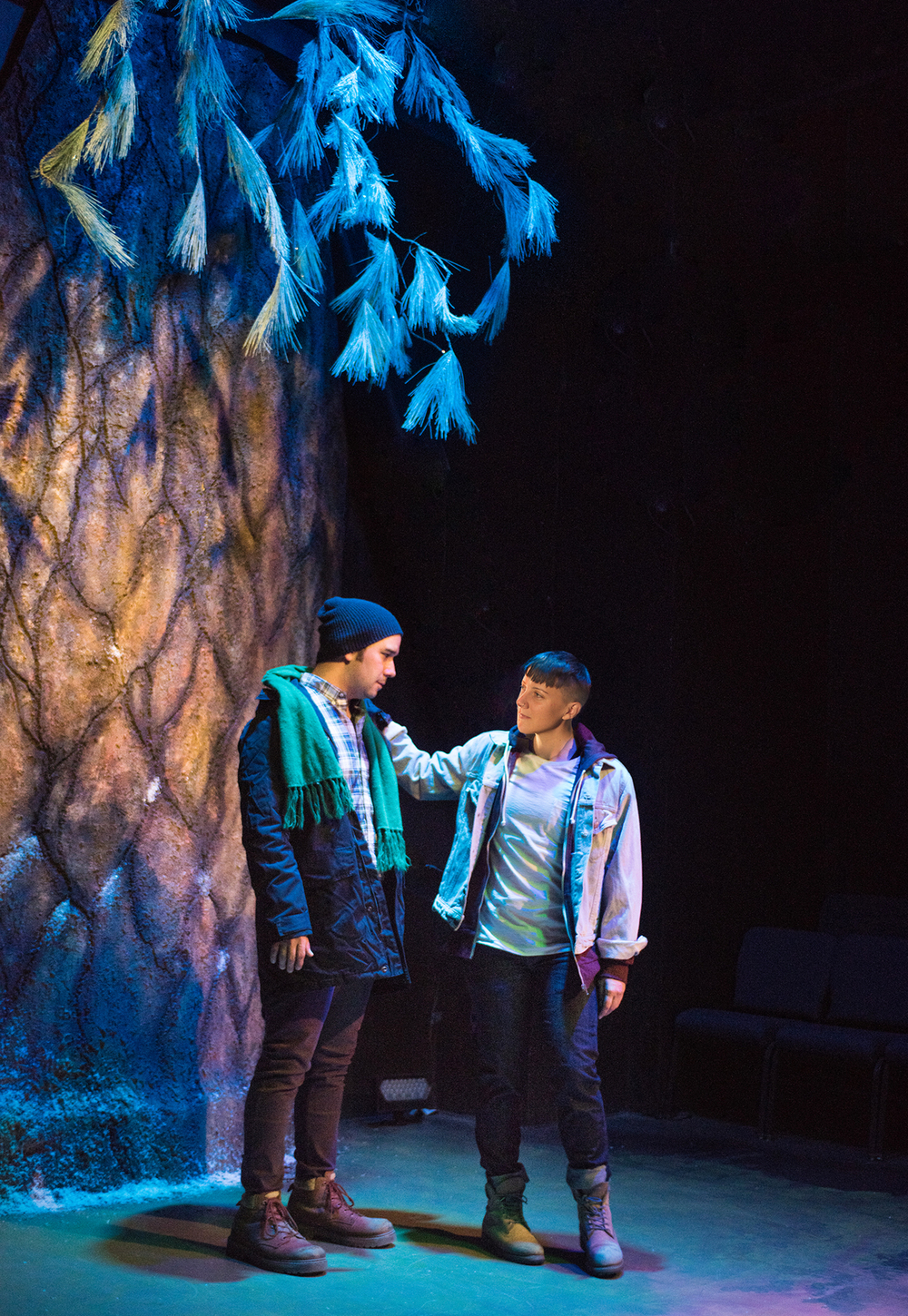 Matthew Hannon, SK Kerastas.  Scenic Design by Christian V. Mejia, Costume Design by Miriam Lewis, Lighting Design by Anthony Powers, Sound Design by James Ard, Puppet Design by Dave Haaz-Baroque, Prop Design by Adeline Smith.  Photo by Lois Tema.