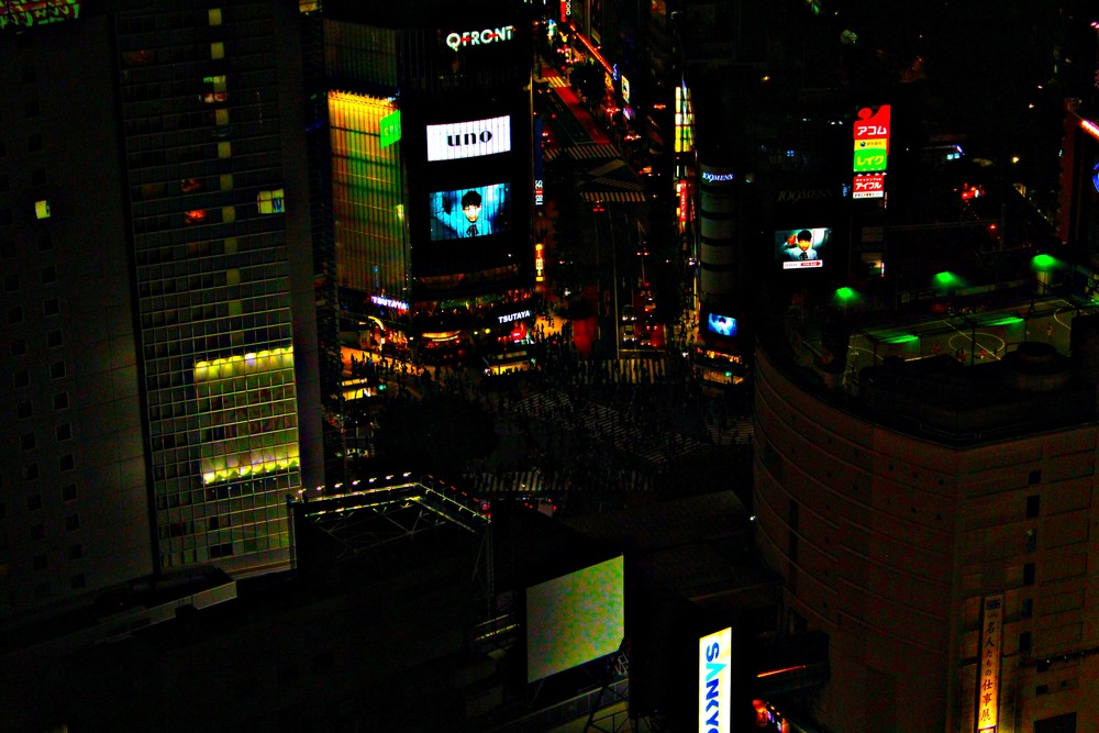 view over Shibuya Crossing