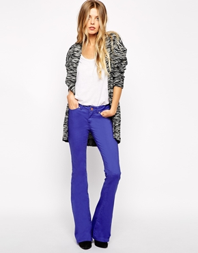 £35.00 Noisy May Flared Jeans - Blue