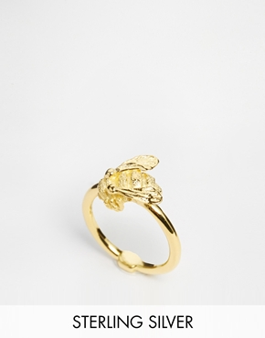 £41.00 Bill Skinner Gold Plated Bee Ring