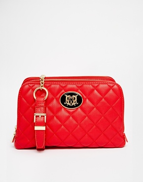 £195.00 Love Moschino Leather Quilted Bag in Red