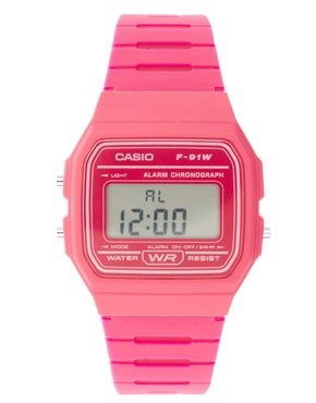 £20.00 Casio F-91WC-4AEF Digital Pink Watch
