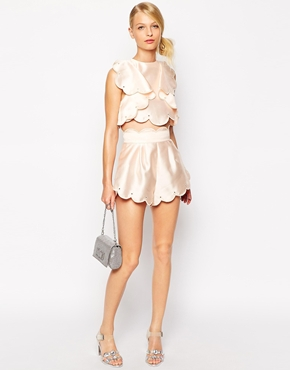 £130.00 Alice McCall Crop Top with Frills and Scallop Edge £145.00 Alice McCall Shorts with Scallop Edge