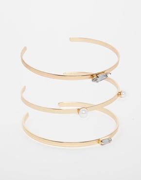 £6.00River Island Double 3 Pack Farah Cuff Bracelet