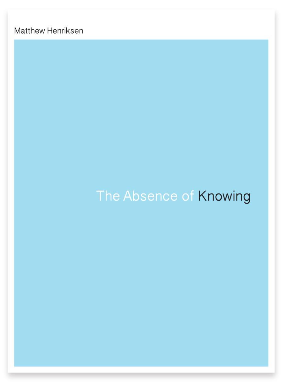 the absence of knowing u2014 black ocean